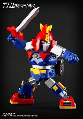 全新Action Toys Mini Deformed Series 02 VOLTES V 機械人大戰 V型電磁俠
