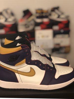 10全新 Nike SB x Jordan 1 defiant lakers 刮刮樂紫金湖人芝加哥 CD6578-507