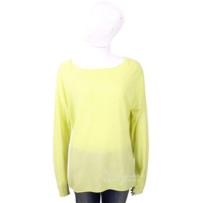 米蘭廣場 ALLUDE 喀什米爾螢光黃捲邊細節薄針織羊毛衫 1740236-66