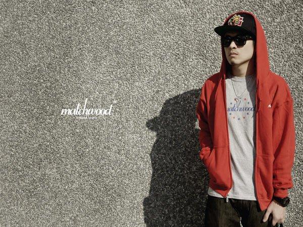 【Matchwood直營】Matchwood Simple ziphood 拉鍊帽夾 連帽外套 紅色款 精選6折優惠