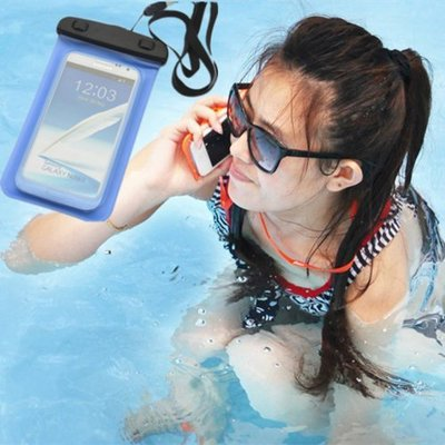 【媽媽倉庫】多功能手機防水袋 5.5吋 20x10.7cm iPhone 6 Plus 手機袋 手機套
