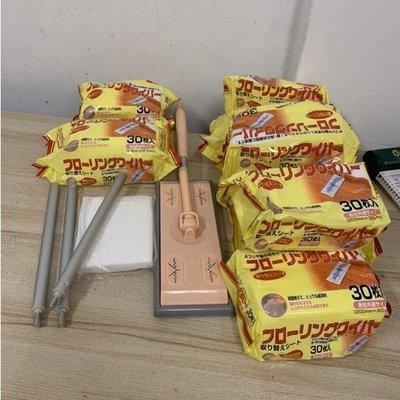 日式一次性平板拖把靜電除塵紙吸塵紙擦地拖布濕巾無塵紙(@777-8526)