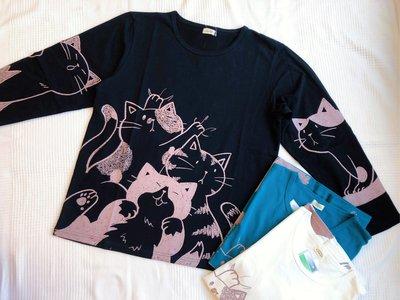 日本卡拉貓~喵喵世界抗菌純棉上衣