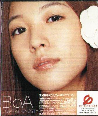 K - BoA - LOVE&HONESTY - 日版 +OBI