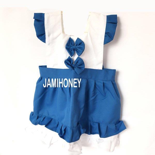 海洋風藍色雙蝴蝶結 兒童圍裙【JI2390】《Jami Honey》