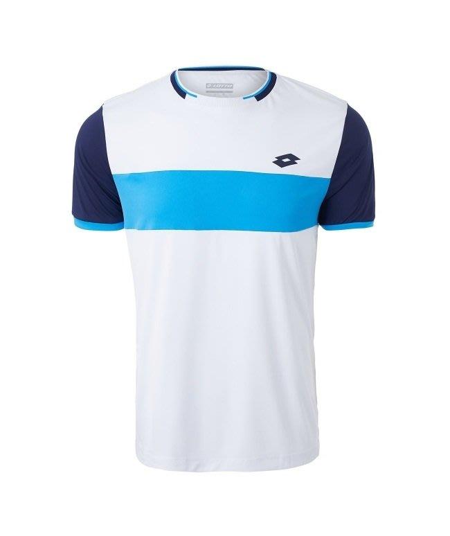 【曼森體育】LOTTO 頂級 網球 T-SHIRT 運動短袖 澳網公開賽選手款 吸濕排汗