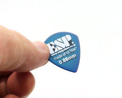 【老羊樂器店】開發票 ESP PICK 彈片 撥片 匹克 JAZZ ULTEM 透明藍 防滑 0.88mm