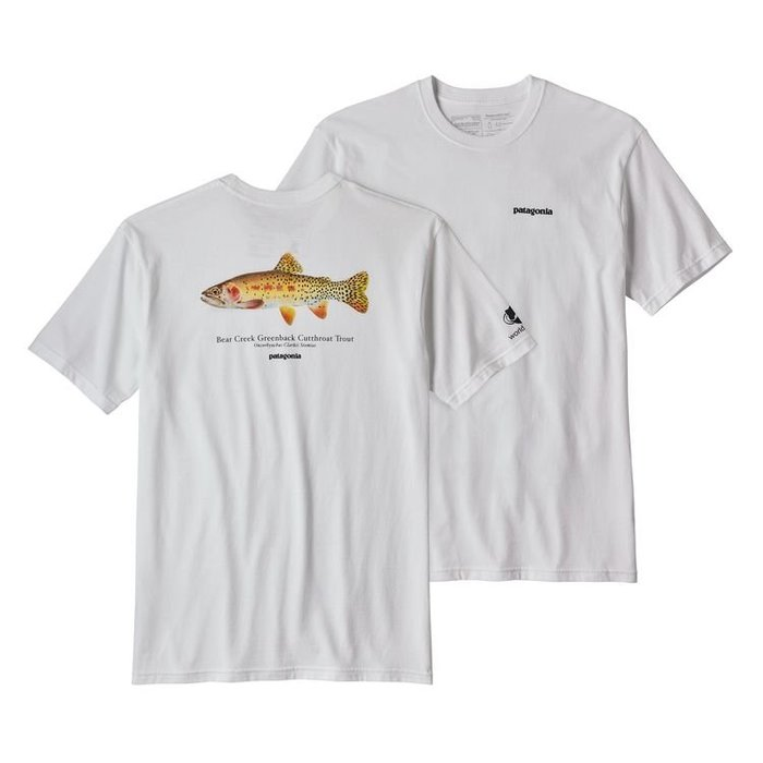 【Shopa】預購 Patagonia Cutthroat Trout 割喉鱒魚 前後 Logo 短袖 T恤 2色