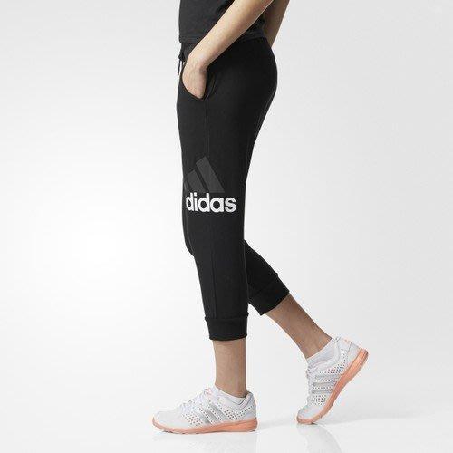 運動GO~ ADIDAS 愛迪達 女 棉質 聚酯彈性纖維 休閒 運動 健身 穿搭 七分褲 BK5455  S號
