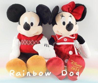 米奇 米妮 聖誕節情侶特別版 東京迪士尼 2014紀念版 (兩款一組)