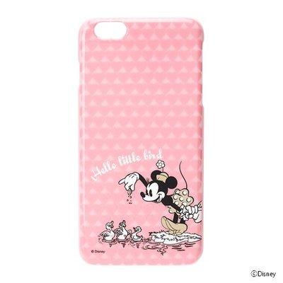 尼德斯Nydus~* 日本迪士尼 米妮 Minnie 硬殼 手機殼 5.5吋 iPhone6+ 粉紅愛心 素面燙金款