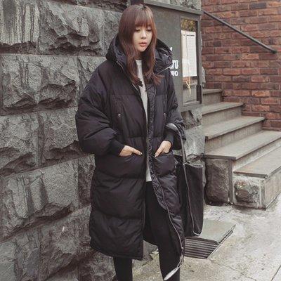 大嫂的店-保暖中長款羽絨棉大衣外套 M~2XL