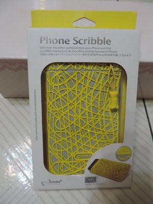 one  Phone Scribble 4.3吋 Touch Me 黃灰色手機收納袋 麂皮有質感環保矽膠 收納包 台灣製
