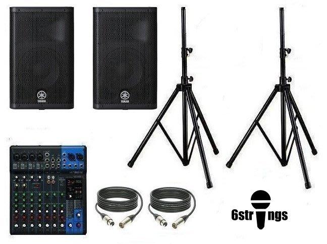 【六絃樂器】全新 Yamaha MG10XU 混音器 + DXR10 主動式喇叭*2 / 舞台音響設備 專業PA器材