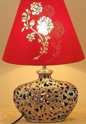 【優上精品】陶瓷台燈臥室床頭 喜慶 中式古典 客廳書房 裝飾禮品台燈(Z-P3216)