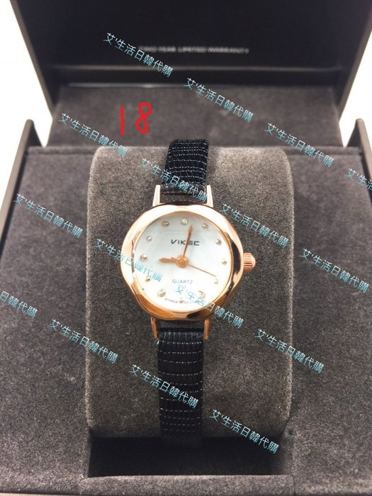 現貨 韓國VIKEC复古皮带手表 简约时尚女士腕表