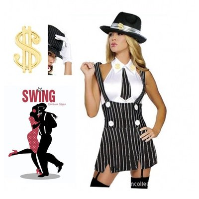 CD變裝cos服~歐美新款性感爵士舞服酒吧夜店DJ 舞臺演出服gangster costume
