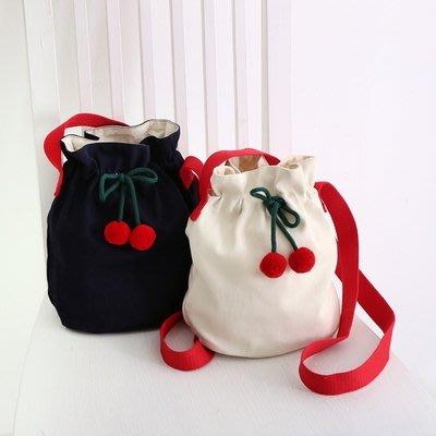 ♀高麗妹♀韓國 Romane Cherry Eco Bag 甜蜜櫻桃包.側背包.斜背包(預購)