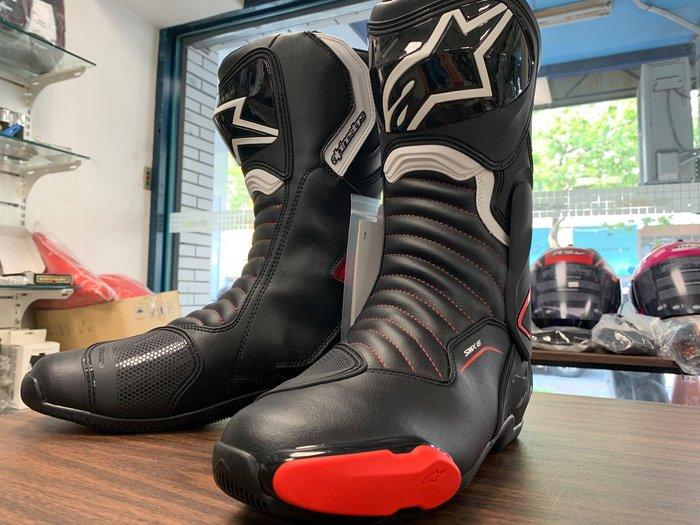 """【松部品】""""免運alpinestar 長筒車靴 Boots SMX-6 V2 黑白紅色 A星車靴 s-mx 6 smx6"""