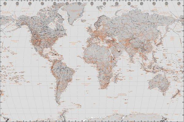 海報專賣店- GN0748(World Map-世界地圖)+掛軸處理