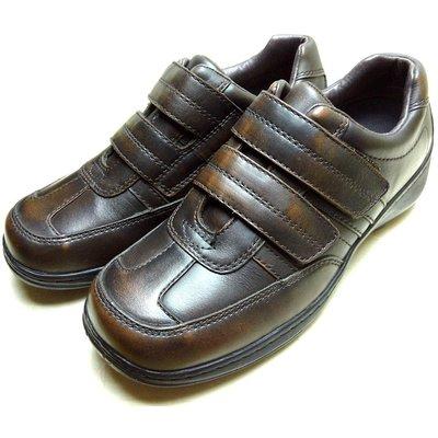 【鞋媽媽】[男]全新真品*美國AE真皮*深棕色魔術扣帶紳士皮鞋*ae128