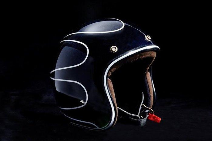 新款Air runner 4/3 復古金蔥安全帽(黑) ROUGH CRAFTS BELL BUCO SIMPSON
