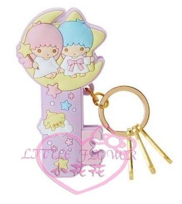 ♥小花花日本精品♥Twin Stars雙子星kikilala造型夾式鑰匙圈吊飾可掛包包可夾多功能鑰匙圈00913300