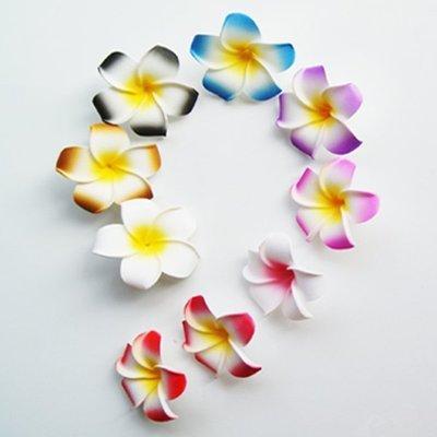 5Cgo【宅神】促銷16385091978仿真雞蛋花PE仿皮花淺黃色仿真花朵植物花頭飾裝飾DIY手工用品包包4cm一百朵