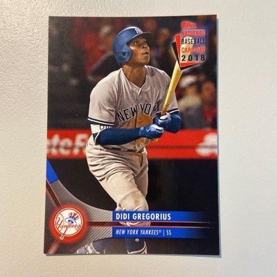 Didi Gregorius 紐約洋基隊明星游擊手 2018國家棒球卡日 少見卡包