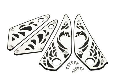 【車輪屋】YAMAHA 山葉原廠精品 魔多堂 新勁戰四代 4代戰 專用 金屬踏板 鋁合金腳踏版 腳踏墊 特價$1550