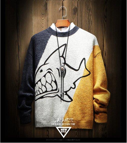 EVAN'S - 鯊魚 針織衫/毛衣  ( 藍 / 黃 )