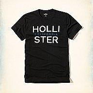 Hollister 英文字母款式,美國海鷗男士短袖T恤纯棉休閒T恤 【HCO全新品】