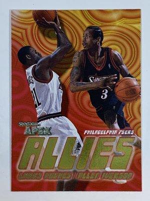 1999-00 SkyBox Apex Allies Allen Iverson Larry Lughes 76ERS