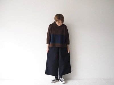 現貨 日本質感品牌 prit 壓縮毛料 8分 保暖 寬褲 毛褲 日本製