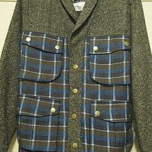 Wisdom 2012  F/W Checked Splicing Jacket 毛呢格紋外套 Size:S