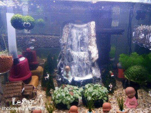 流沙瀑布青龍石魚缸草缸水族箱動態造景擺件水動力無噪音