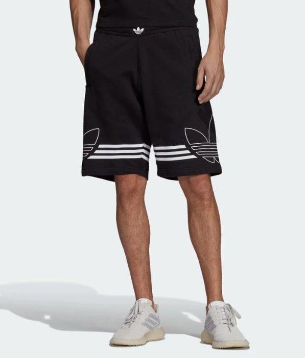 【豬豬老闆】ADIDAS ORIGINALS OUTLINE 棉質 休閒 短褲 男款 黑 DU8135 灰 DU8136