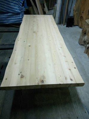 台灣黃檜拼接桌板/鐵腳搭配使用