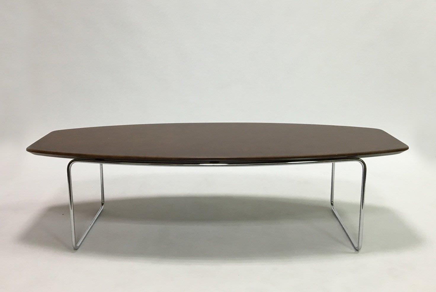 =東方木= 日式咖啡桌 茶几 電鍍桌腳一體成型