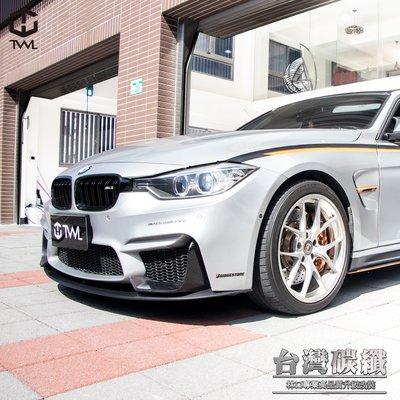 TWL台灣碳纖 全新BMW寶馬 F30 F31 台版 M3 F80保桿專用改裝前下巴素材 328 320