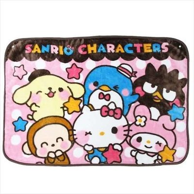 尼德斯Nydus 日本正版 Sanrio 三麗鷗 Kitty 美樂蒂 酷企鵝 布丁狗 毛毯 披巾 披肩 小毯子