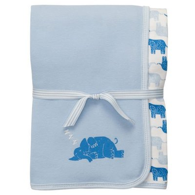 【Nichole's進口優質歐美童裝】OshKosh雙面嬰兒被大象 經典涼被 車用被 攜帶被 現貨 彌月禮 生日禮