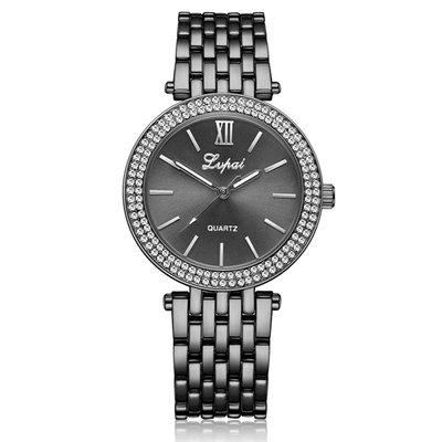 詩高迪lvpai 金色手表鋼帶帶鉆高檔手表速賣通爆款女士商務時裝表腕表za17