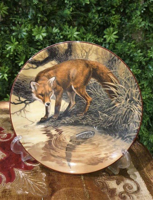 【卡卡頌  歐洲古董】WEDGWOOD 緯緻活 英國(老件未用) 藝術家 簽名 狐狸 fox 裝飾盤 p1746 ✬