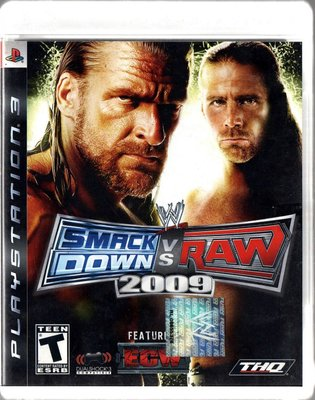 PS3 Smack Down vs. Raw 2009 遊戲片 再生工場YR 03