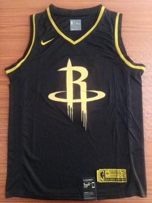 詹姆士·哈登(James Harden)  NBA火箭隊球衣13號 黑金色