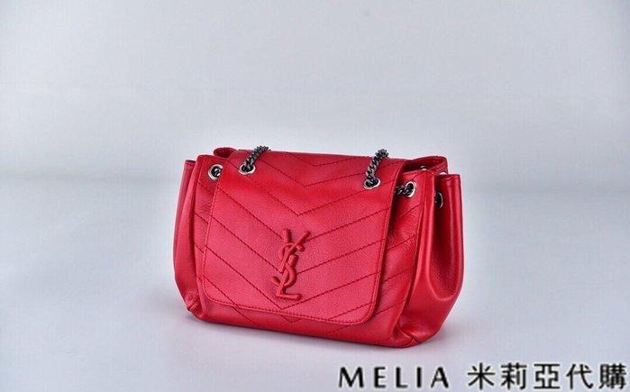 Melia 米莉亞代購 商城特價 數量有限 每日更新 Saint Laurent YSL nolita 小號羊皮 紅色
