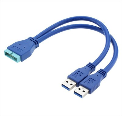 U3-062 USB3.0轉接線 機殼轉接線 主機板轉接線 20pin轉雙USB線 USB19針轉接線 USB3.0擴充
