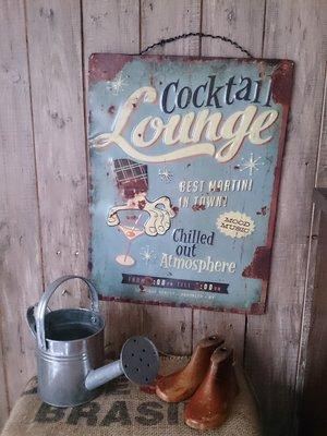 【日花里悠然生活雜貨】 日本進口 自然 舊貨風 JUNK風鐵牌壁飾-Lounge