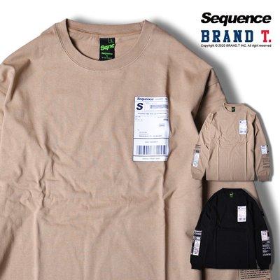 【Brand T】免運 SEQUENCE L/S T-SHIRT 條碼 發票 長袖 T恤 薄長T 2色